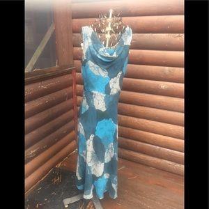 Gorgeous cowl neck maxi dress various teals/taupe